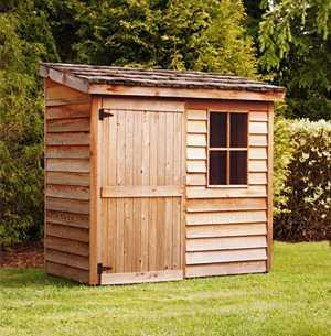 Fixation d 39 un abri de jardin dans la terre for Small wooden structures